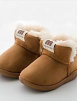 Недорогие -Девочки Обувь Синтетика Наступила зима Зимние сапоги Ботинки На липучках для Дети (1-4 лет) Коричневый / Розовый