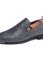 Недорогие -Муж. Официальная обувь Синтетика Весна & осень На каждый день / Английский Мокасины и Свитер Нескользкий Черный / Для вечеринки / ужина
