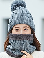 Недорогие -Жен. Классический Вязаная шапочка / Берет / Широкополая шляпа Контрастных цветов