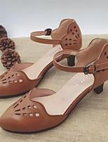 Недорогие -Жен. Наппа Leather Лето Обувь на каблуках На шпильке Черный / Бежевый / Темно-русый