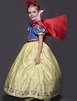 abordables -Princesse Robes Costume de Cosplay Fille Enfants Dessin Animé Noël Halloween Le Jour des enfants Fête / Célébration Velours Tenue Bleu Princesse