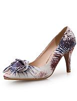 Недорогие -Жен. Синтетика Весна лето Обувь на каблуках На шпильке Заостренный носок Лиловый