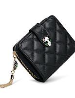Недорогие -женские сумки наппа кожаный кошелек кристаллы розовый / черный