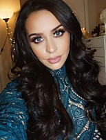 Недорогие -человеческие волосы Remy Полностью ленточные Лента спереди Парик Бразильские волосы Крупные кудри Парик Ассиметричная стрижка 130% 150% 180% Плотность волос