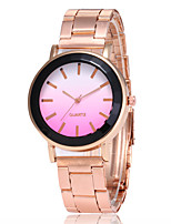 Недорогие -Жен. Нарядные часы Наручные часы Кварцевый Розовое золото Повседневные часы Аналоговый Дамы Мода Элегантный стиль - Зеленый Синий Розовый