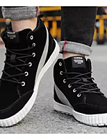 Недорогие -Муж. Комфортная обувь Полиуретан Зима Кеды Черный / Темно-серый / Светло-серый