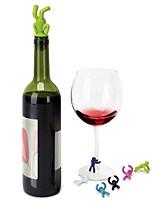 abordables -Articles de bar / bouchons de vin / Accessoires pour Bar & Vin Facile à transporter pour Bar / Vin / Quotidien Silicone