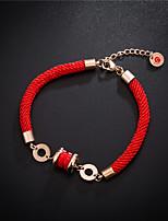 Недорогие -Веревка Браслет - Титановая сталь Везучий Дамы, европейский, Простой стиль, Мода Красный Назначение Для вечеринок Повседневные Жен.