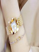 Недорогие -Жен. Дамы Нарядные часы Кварцевый Повседневные часы сплав Группа Аналоговый Мода минималист Серебристый металл / Золотистый - Золотой Серебряный
