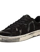 Недорогие -Муж. Комфортная обувь Свиная кожа Осень Кеды Черный / Серый / Коричневый