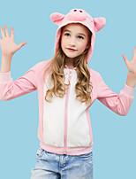 abordables -Inspiré par Cosplay Animal / Cochon Manga Costumes de Cosplay Cosplay à Capuche / Pyjamas Kigurumi Bande dessinée Manches Longues Sweat à capuche Pour Garçon / Fille