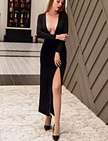 baratos -Mulheres Básico Bainha Vestido Sólido Longo