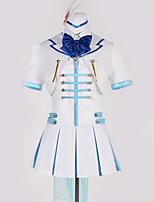 baratos -Inspirado por Amar viver Fantasias Anime Fantasias de Cosplay Ternos de Cosplay Art Deco / Laço Blusa / Saia / Luvas Para Homens / Mulheres