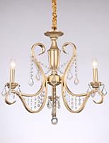 baratos -JLYLITE 3-luz Estilo de vela Lustres Luz Superior Galvanizar Metal Estilo Vela 110-120V / 220-240V