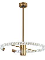 baratos -ZHISHU Circular Luzes Pingente Luz Ambiente Galvanizar Metal Novo Design 110-120V / 220-240V Branco quente + branco