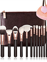 baratos -15pçs Pincéis de maquiagem Profissional Pincel de maquiagem Cobertura Total De madeira / bambu