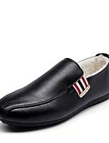 Недорогие -Муж. Комфортная обувь Микроволокно Зима На каждый день Мокасины и Свитер Нескользкий Полоски Черный / Желтый