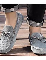 Недорогие -Муж. Комфортная обувь Свиная кожа Лето Мокасины и Свитер Черный / Серый / Хаки