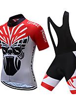 Недорогие -TELEYI С короткими рукавами Велокофты и велошорты-комбинезоны - Белый / Черный Велоспорт Быстровысыхающий азиатский / Эластичная