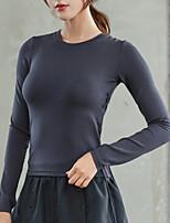 Недорогие -женская узкая футболка - однотонная шея