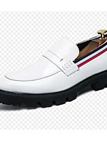 Недорогие -Муж. Комфортная обувь Микроволокно Весна & осень Мокасины и Свитер Белый / Черный