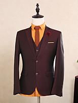 abordables -Taches Coupe Sur-Mesure Polyester Costume - Cranté Droit 2 boutons