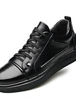 Недорогие -Муж. Комфортная обувь Кожа Зима На каждый день Кеды Доказательство износа Черный