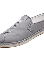 Недорогие -Муж. Комфортная обувь Полотно Весна На каждый день Мокасины и Свитер Нескользкий Черный / Серый