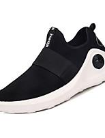 Недорогие -Муж. Комфортная обувь Эластичная ткань / Tissage Volant Зима На каждый день Мокасины и Свитер Нескользкий Черный