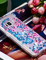 baratos -Capinha Para Samsung Galaxy S8 Antichoque / Glitter Brilhante Capa traseira Torre Eiffel / Glitter Brilhante Macia TPU para S8