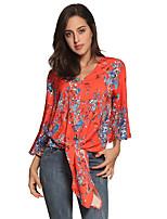 Недорогие -женская блузка - однотонная шея