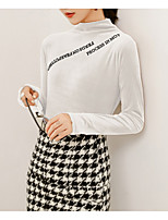 abordables -Tee-shirt Femme, Lettre Chic de Rue