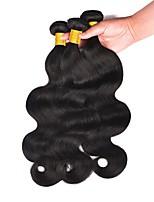 Недорогие -3 Связки Бразильские волосы Малазийские волосы Естественные кудри человеческие волосы Remy Необработанные натуральные волосы Подарки Косплей Костюмы Человека ткет Волосы 8-28 дюймовый