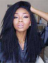 Недорогие -человеческие волосы Remy Полностью ленточные Лента спереди Парик Бразильские волосы Вытянутые Парик Ассиметричная стрижка 130% 150% 180% Плотность волос