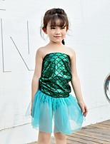 abordables -Princesse Sirène Jupe Fille Enfants Robe sirène et robe évasée Fête / Célébration Chinlon Tenue Violet / Vert Sirène