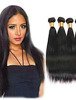 abordables -Lot de 4 Cheveux Indiens Droit Cheveux Naturel humain Cadeaux Tissages de cheveux humains Soin des Cheveux 8-28 pouce Couleur naturelle Tissages de cheveux humains Fabriqué à la machine Soyeux Homme