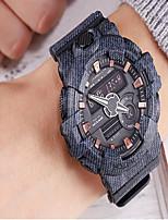 Недорогие -Муж. Спортивные часы Цифровой Черный / Красный / Серый Защита от влаги Секундомер С двумя часовыми поясами Аналоговый На каждый день - Серый Красный Синий / Фосфоресцирующий / Фаза луны