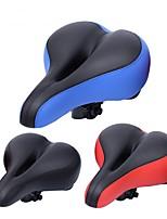 Недорогие -Седло для велосипеда Удобный, Прочный, Анти-шоковая защита Шоссейные велосипеды / Велоспорт / Горный велосипед пластик / PP Черный