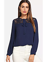Недорогие -женская хлопковая узкая блузка - однотонная шея