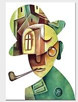 Недорогие -С картинкой Отпечатки на холсте - Абстракция Люди Modern