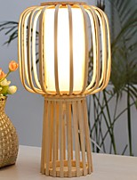 Недорогие -Современный Декоративная Настольная лампа Назначение Спальня Дерево / бамбук 220-240Вольт