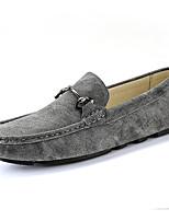 Недорогие -Муж. Кожаные ботинки Замша Весна & осень Деловые / На каждый день Мокасины и Свитер Нескользкий Черный / Серый / Хаки