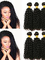abordables -Lot de 3 Cheveux Brésiliens Cheveux Indiens Bouclé Kinky Curly 8A Cheveux Naturel humain Cheveux humains Naturels Non Traités Cadeaux Photo Tissages de cheveux humains 8-28 pouce Couleur naturelle
