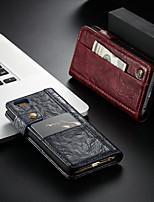 Недорогие -CaseMe Кейс для Назначение Apple iPhone 6 / iPhone 6s Кошелек / Бумажник для карт / со стендом Чехол Однотонный Твердый Кожа PU для iPhone 6s / iPhone 6