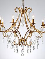 abordables -JLYLITE 8 lumières Cristal Lustre Lumière d'ambiance Finitions Peintes Métal Cristal 110-120V / 220-240V