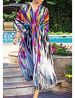 Недорогие -Жен. Цвет радуги Юбки Накидка Купальники - Геометрический принт С принтом Один размер