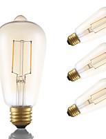 Недорогие -GMY® 4шт 2 W 180 lm E26 / E27 LED лампы накаливания ST19 2 Светодиодные бусины COB Декоративная Янтарный 120 V