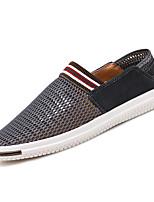 Недорогие -Муж. Комфортная обувь Сетка Лето На каждый день Мокасины и Свитер Дышащий Темно-синий / Темно-серый / Хаки