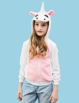 abordables -Inspiré par Cosplay Unicorn Manga Costumes de Cosplay Cosplay à Capuche / Pyjamas Kigurumi Bande dessinée Manches Longues Sweat à capuche Pour Garçon / Fille