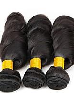abordables -Lot de 3 Cheveux Mongoliens Ondulation Lâche 8A Cheveux Naturel humain Cheveux humains Naturels Non Traités Casque Tissages de cheveux humains Parfums pour Fête du thé 8-28 pouce Couleur naturelle